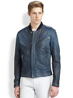 Hugo - Landre Leather Bomber