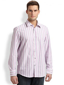 BOSS Black - Lucas Striped Sportshirt
