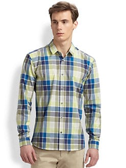 Hugo - Ero Cotton Plaid Shirt