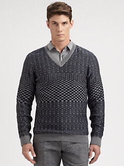 Hugo - Samo Wool V-Neck Sweater
