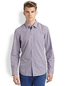 BOSS Black - Obert Gingham Sportshirt