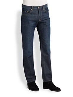 BOSS Black - Maine Blue Flannel Denim Jeans