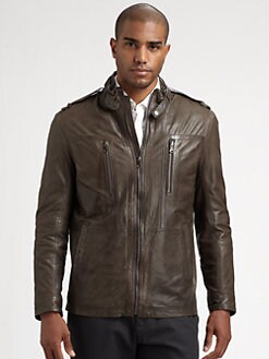 BOSS Black - Nelbin Leather Jacket