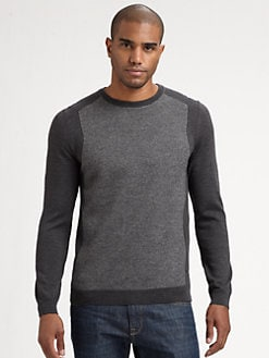BOSS Black - Two-Tone Crewneck Sweater