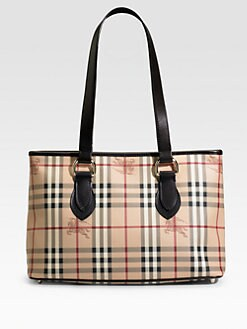 Burberry - Check Zip Tote