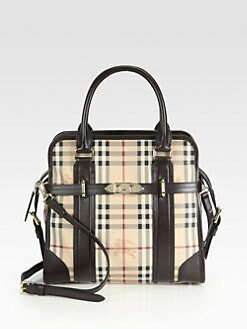 Burberry - MiniFord Medium Coated Canvas Tote