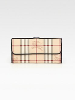 Burberry - Haymarket Classic Coated Canvas ID Wallet