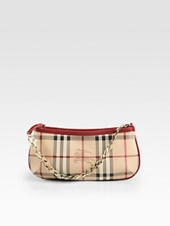 Burberry - Anabel Haymarket Coated Canvas Wristlet