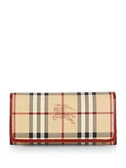 Burberry - Penrose Coated Canvas Haymarket Continental Wallet