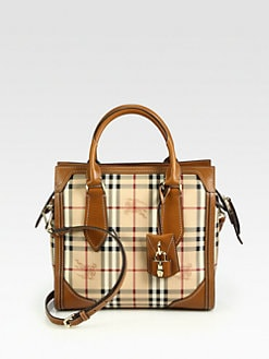 Burberry - Honeywood Small Haymarket  Mixed-Media Tote