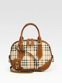 Burberry - Orchard Small Mixed-Media Haymarket Bowling Bag