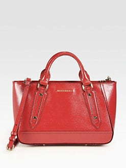 Burberry - Somerford Patent Leather Tote