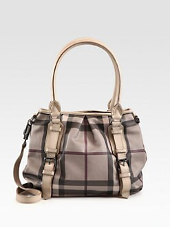 Burberry - Smoke Check & Leather Northfield Bag