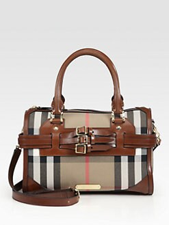 Burberry - Large Check Satchel