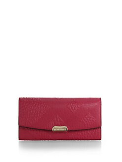 Burberry - Porter Plaid-Embossed Continental Wallet
