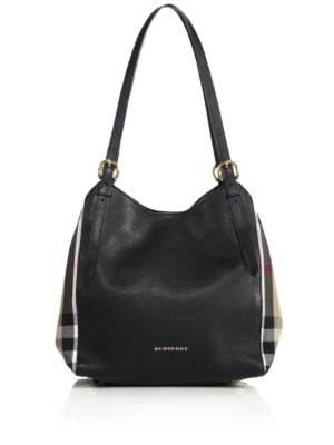 Canter Small Leather & House Check Tote