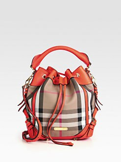 Burberry - Penbury Small Mixed-Media Bucket Bag