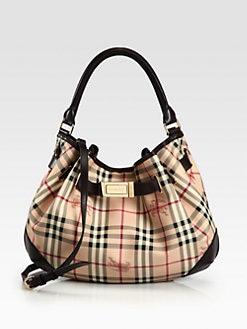 Burberry - Check & Leather Hobo