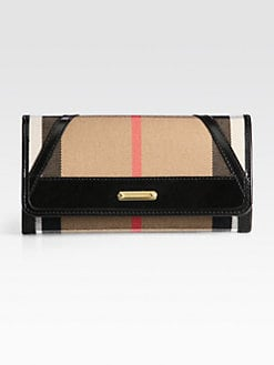 Burberry - Penrose Mixed-Media Continental Wallet
