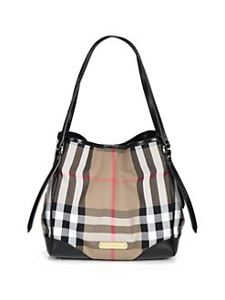 Burberry - Canterbury Mixed-Media Bridle Tote