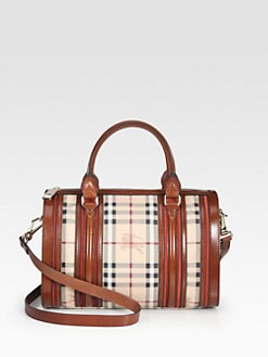 Burberry - Mixed-Media Bowling Bag