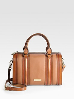 Burberry - Alchester Mixed-Media Bowling Bag