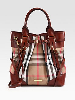 Burberry - Mixed-Media Bridle Tote