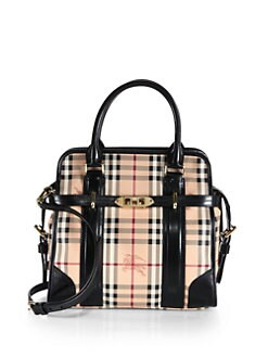 Burberry - Haymarket Coated Canvas Tote