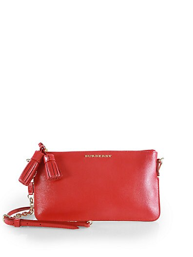London Patent Saffiano Leather Convertible Clutch