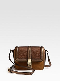 Burberry - Berkeley Mixed-Media Mini Crossbody