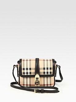 Burberry - Berkeley Coated Canvas Haymarket Crossbody Bag