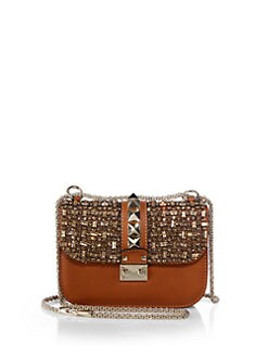 Valentino - Embellished Glam Lock Shoulder Bag