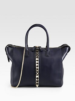 Valentino - Va Va Voom Studded Top Handle Bag
