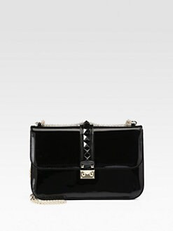 Valentino - Punkouture Patent Leather Rocklock Shoulder Bag