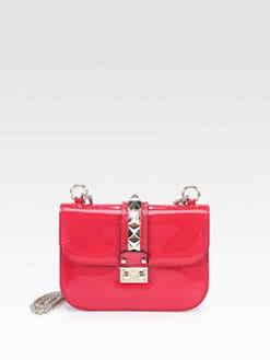 Valentino - Patent Leather Small Rock Shoulder Bag