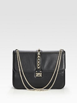 Valentino - Leather Lock Bag