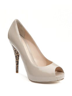Fendi - FF Superstar Patent Leather Pumps