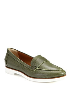 Fendi - Marcello Lizard-Print Leather Loafers
