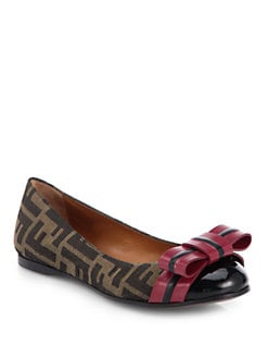 Fendi - Pride & Prejudice Jacquard Canvas Ballet Flats