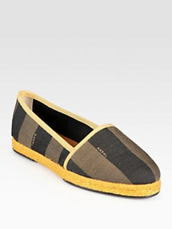 Fendi - Pequin Canvas Espadrilles