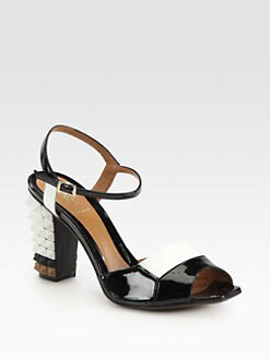 Fendi - Plifnia Patent Leather Ankle Strap Sandals
