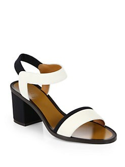 Fendi - Polifonia Bicolor Leather Sandals