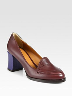 Fendi - Austen Lizard-Stamped Leather Pumps