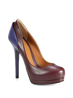 Fendi - Anme Lizard-Stamped Leather Pumps