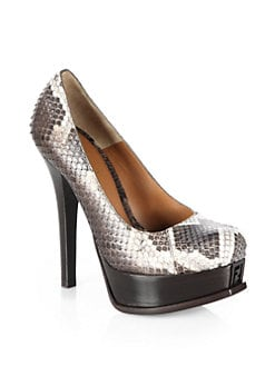 Fendi - Fendista Python Platform Pumps