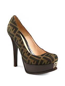 Fendi - Fendista Monogram Platform Pumps