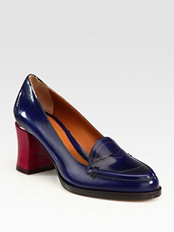 Fendi - Austen Leather Colorblock Pumps