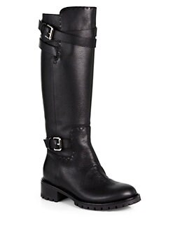 Fendi - Leather Knee-High Boots