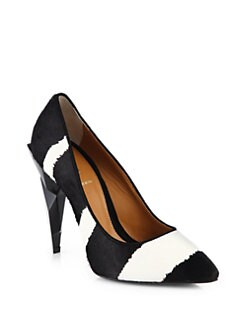 Fendi - Zebra-Print Calf Hair Pumps