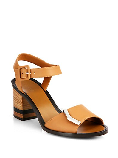 Demetra Leather Ankle-Strap Sandals